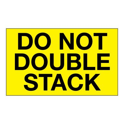 DO not double stack label