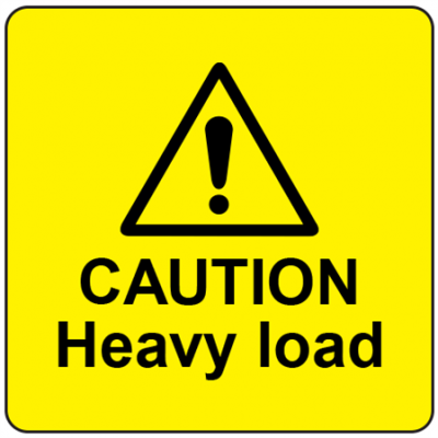 Caution- Heavy Load Labels