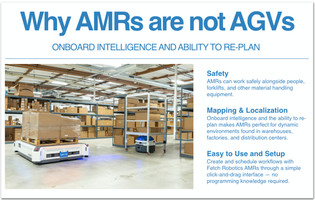 why AMRs are not AGVs Onboard intelligence and ability to replan